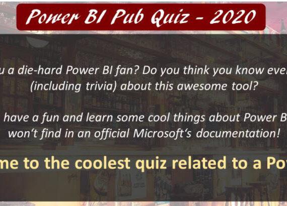 Power BI Pub Quiz 2020