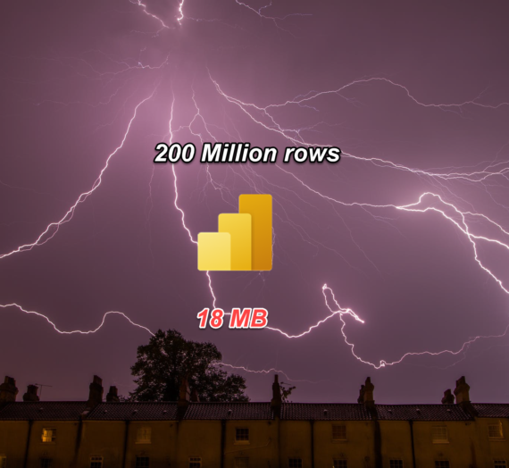 Power BI – How to fit 200 million rows in less than 1GB!