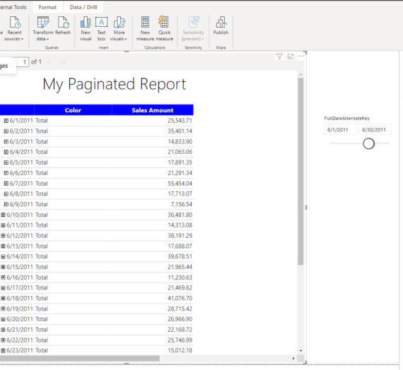 Paginated Report visual in Power BI – everything you need to know!
